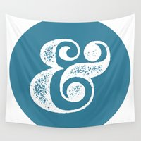ampersand Wall Tapestries featuring Ampersand by AndyGD