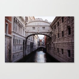 Venice: Bridge of Sighs Canvas Print