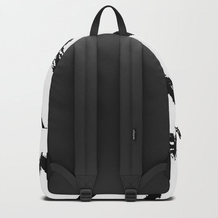 Chevron Stripes Black and White Backpack