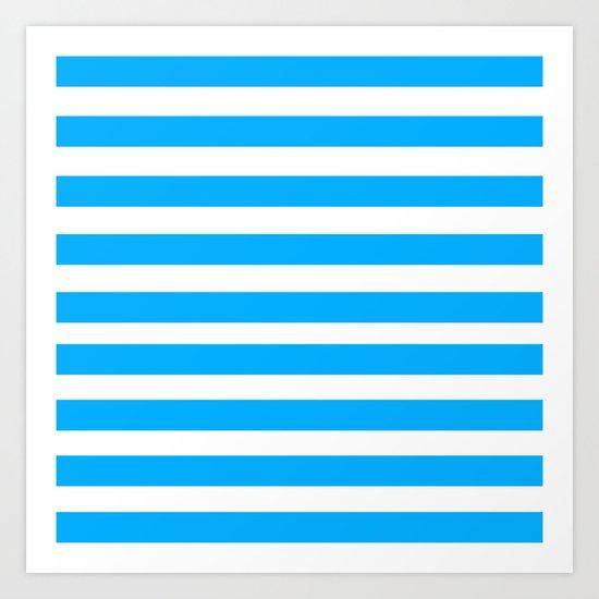 Blue Lines Art Print