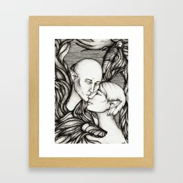Wolf and Hart Framed Art Print