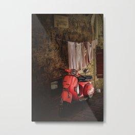 Pink vespa - travel photography Metal Print