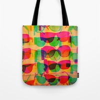 sunglasses Tote Bags featuring Sunglasses by Kaos and Kookies