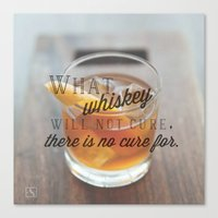 whiskey Canvas Prints featuring Whiskey  by aNiles