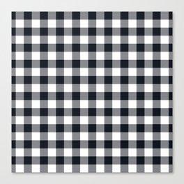 Small Black & White Vichy Canvas Print