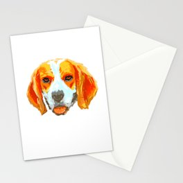 Love Beagle design Gift Art Splash Beagle Dog fans Stationery Cards
