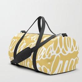 Doodles Waves Yellow Duffle Bag