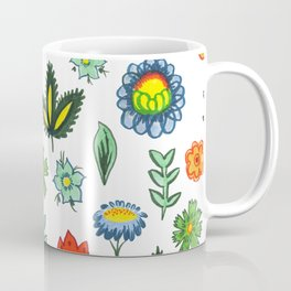 Fun Folk Floral Pattern Coffee Mug