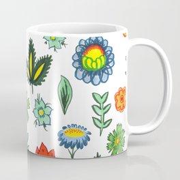 Fun Folk Floral Pattern Coffee Mug