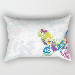 Abstract Flutterby Rectangular Pillow
