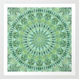 Mary Jane Mandala (green) Kunstdrucke