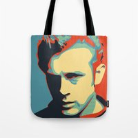 rebel Tote Bags featuring Rebel by Sparks68