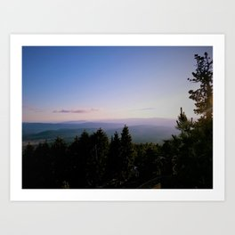 Cascade Mountain View Art Print
