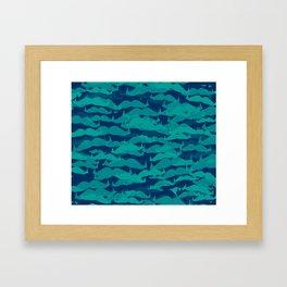 Movember Crowd Framed Art Print