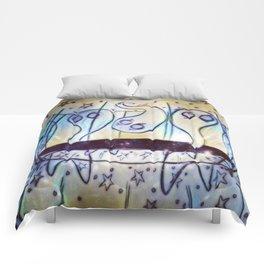 Ghosties on Trampolines Comforters