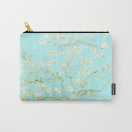Vincent Van Gogh : almond blossoms Aqua Blue Carry-All Pouch