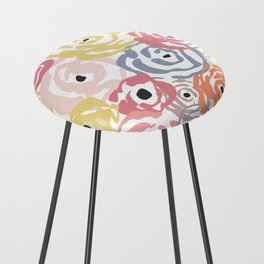 Colorful Flower Bundle Counter Stool