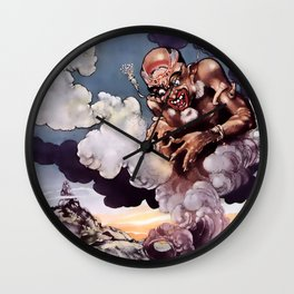 """""""The Fisherman and the Genie""""  by René Bull Wall Clock"""
