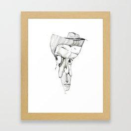 Jazz Hands. Framed Art Print