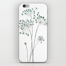 wild carrot watercolor iPhone Skin