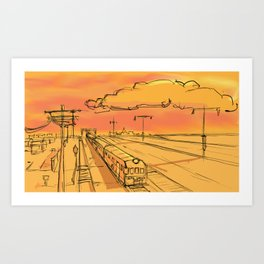 North Borneo Railway Art Print