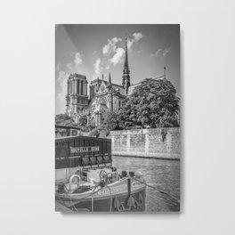 PARIS Cathedral Notre-Dame   monochrome Metal Print