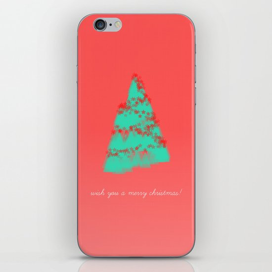 wish you a merry christmas! iPhone & iPod Skin