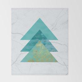 Green Peaks IV Throw Blanket