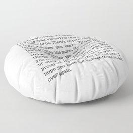 F. Scott Fitzgerald Floor Pillow