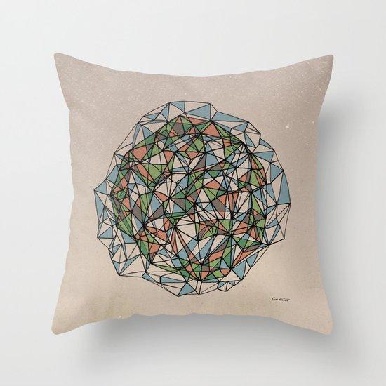 - blue orange green - Throw Pillow