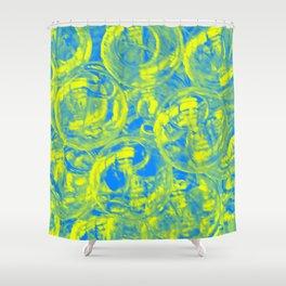 Abstract glass balls Shower Curtain
