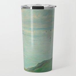 Cliffs at Pourville by Claude Monet,1882 Travel Mug