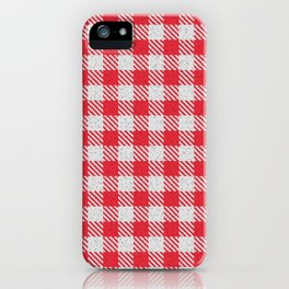 Imperial Red Buffalo Plaid iPhone Case