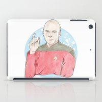 picard iPad Cases featuring Captain Jean-Luc Picard of the Starship Enterprise by A Rose Cast