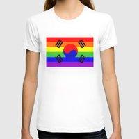 korea T-shirts featuring south korea gay flag by tony tudor