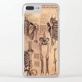 Study of Skeletons - Leonardo da Vinci Clear iPhone Case