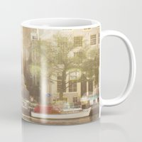 amsterdam Mugs featuring Amsterdam by Cassia Beck