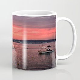 Mumbles Harbour after Sunset. Coffee Mug
