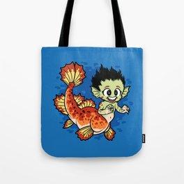 Crimson Pond Dragon Tote Bag