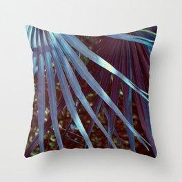 Dream Blue Palmetto Throw Pillow