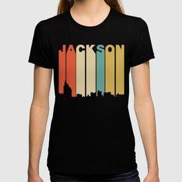 Retro 1970's Style Jackson Mississippi Skyline T-shirt