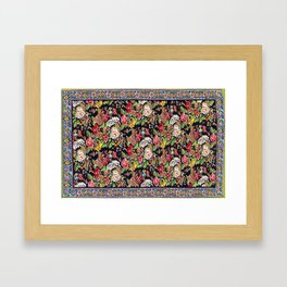 Sehna Kilim Poshti  Antique Kurdistan Persian Tribal Rug Print Framed Art Print