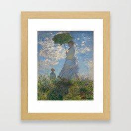 Woman with a Parasol, Monet Framed Art Print