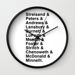 Broadway Lady Legends Wall Clock