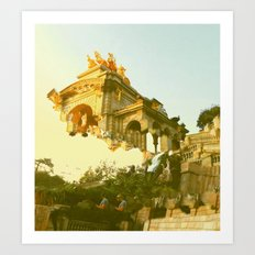 Barcelona Cubism Dreams Art Print