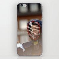 samurai iPhone & iPod Skins featuring Samurai by Premium