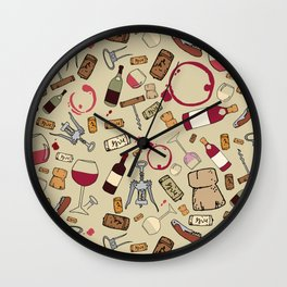 A good time for wine Wall Clock
