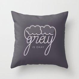 Gray/Grey Throw Pillow