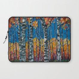 Colorado Aspen Grove Palette Knife Painting  Laptop Sleeve