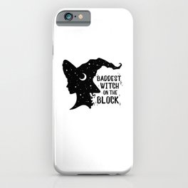Funny Baddest Witch On The Block Halloween Costume Gifts iPhone Case